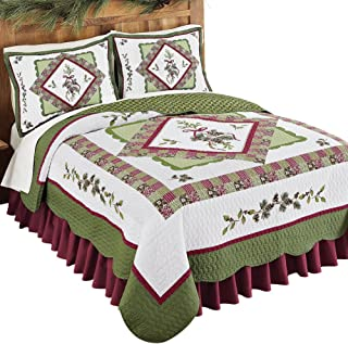 Woodland-Inspired Pinecone Patchwork Reversible Lightweight Quilt
