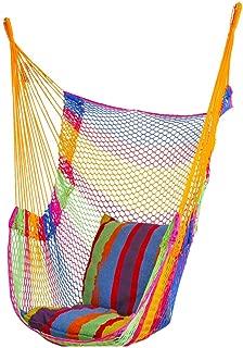 S2F5 Outdoor Wild Swing Net Bed Mesh Indoor Household Camping Hammock Nylon Tie Rope Adult Children Outdoor Chair (Color : Yellow)