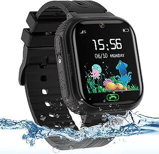 Kids Watch for Boys Girls, IP67 Waterproof Kids Smart Watch with GPS Tracker, 2 Ways Phone Calls Camera Alarms Calculator ...