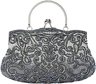 IRVING Women Wallets Fashion Clutch Purses,Evening Bag Handbag (Color : Gray)