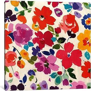 """iCanvasART 1 Piece Bright Florals I Canvas Print by Wild Apple Portfolio, 37"""" x 37""""/0.75"""" Depth"""