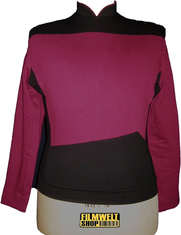 Star Trek Next Generation Uniform - Oberteil super deluxe Baumwolle (XXX-Large, rot)
