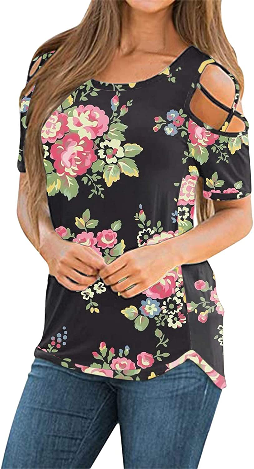 Eduavar Ranking TOP12 Price reduction Womens Summer Shirts and Cold Blouses Strappy Sho