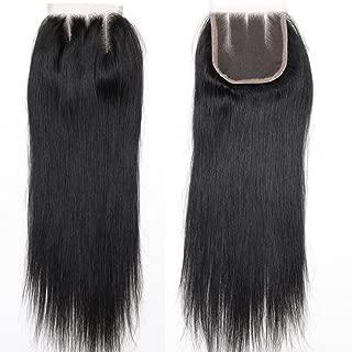 BLACKMOON HAIR 3 Part Lace Closure Straight 130% Density 4