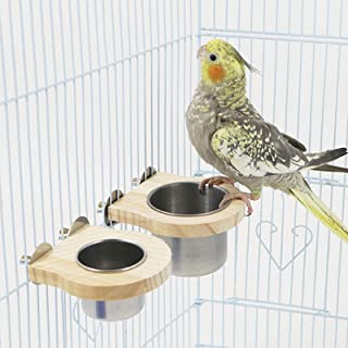 Water Bowls Feeder for Parakeet Parrot HERCHR 15Pcs Bird Feeding Cups for Cage