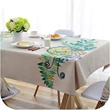 European Pastoral Plant Floral Printed Table Cloth Polyester Fabric Tablecloth Table Cover Home Textile-Tablecloth-140X200Cm