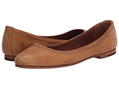 Frye Carson Ballet (Marigold Sun-Washed Leather) Women