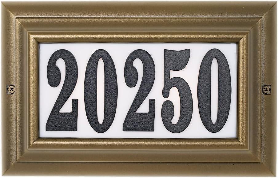 Qualarc Aluminium Edgewood Large Lighted R Bargain sale Address trend rank in Oil Plaque