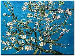 Peinture À L'Huile Peinte À La Main,Peinture À L'Huile Pure Peinte À La Main Fleur D'Abricot Sur Toile Sans Cadre Moderne ...