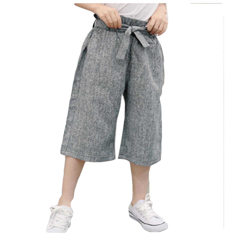 CAIXINGYI 子供服 女の子 夏 子供 ズボン ファッション ワイドレッグパンツ カジュアル ズボン