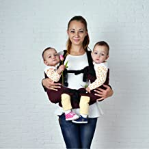 Malishastik Twin Baby Carrier Burgundy, Baby Twins, Twins Carrier, Baby Carrier Twins, Baby Carrier for Twins, Twin Carrier