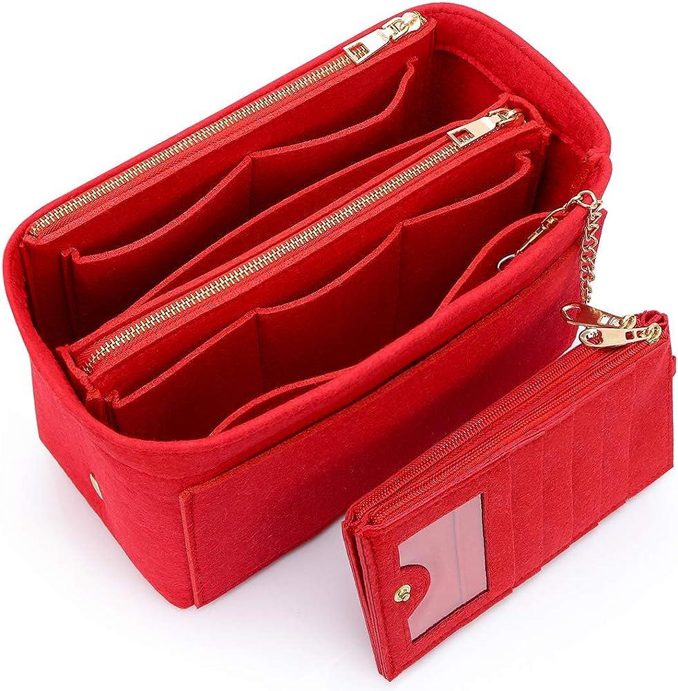 hyfanstr, borsetta per donna, in feltro morbido e leggero mother card-red-s