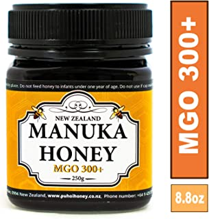 New Zealand 100% Pure Manuka Honey MGO 300+ 250g (8.8oz)