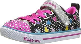 Skechers Sparkle Lite - Heart Sketch Girls Sneakers, Black/Multi