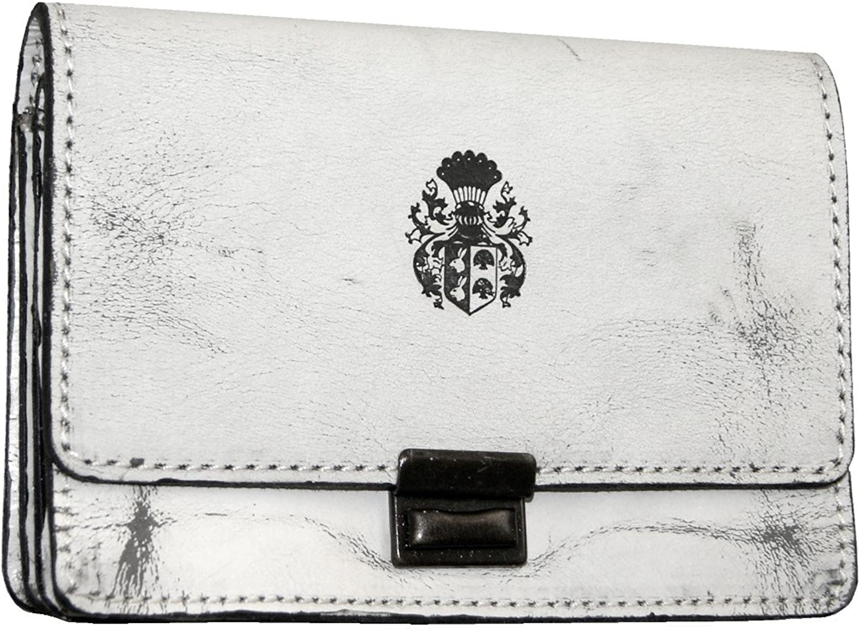 Baron of Maltzahn White wallet purse MALALA antique leather