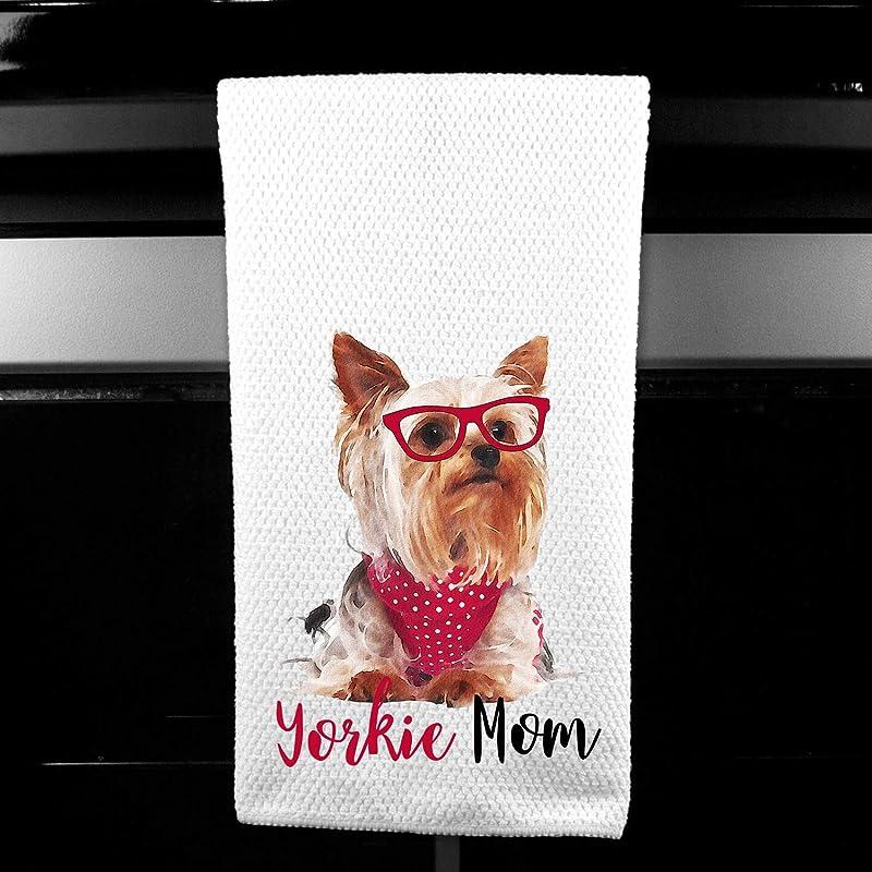 Yorkie Mom Yorkshire Terrier Microfiber Kitchen Tea Bar Towel Gift For Animal Dog Lover