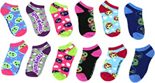 Girls Hatchimals 6 Pack Low Cut Socks Size 9-3