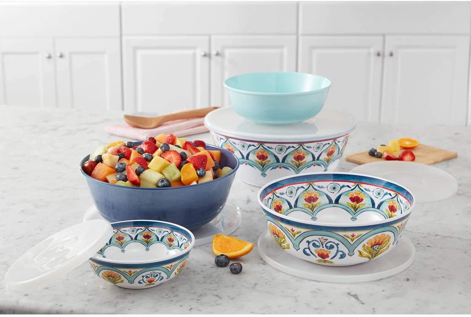 Member's Popular shop is the lowest price challenge Mark 5-Piece Melamine Mixing Max 60% OFF Bowl Set Talave Lids with