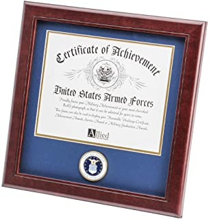 Allied Frame United States Air Force Certificate of Achievement Frame with Medallion - 8 x 10 inch