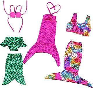 BARWA 18 Inch Doll Clothes Accessories 3 Sets Princess Mermaid Tail Outfits Dress Swimsuit Bikini Tops Underwear Swimwear ...