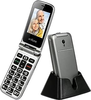 Teléfono Celular Senior,Artfone Flip Teléfono móviles para Personas Mayores con Teclas Grandes con Pantalla a Color de 2.4...
