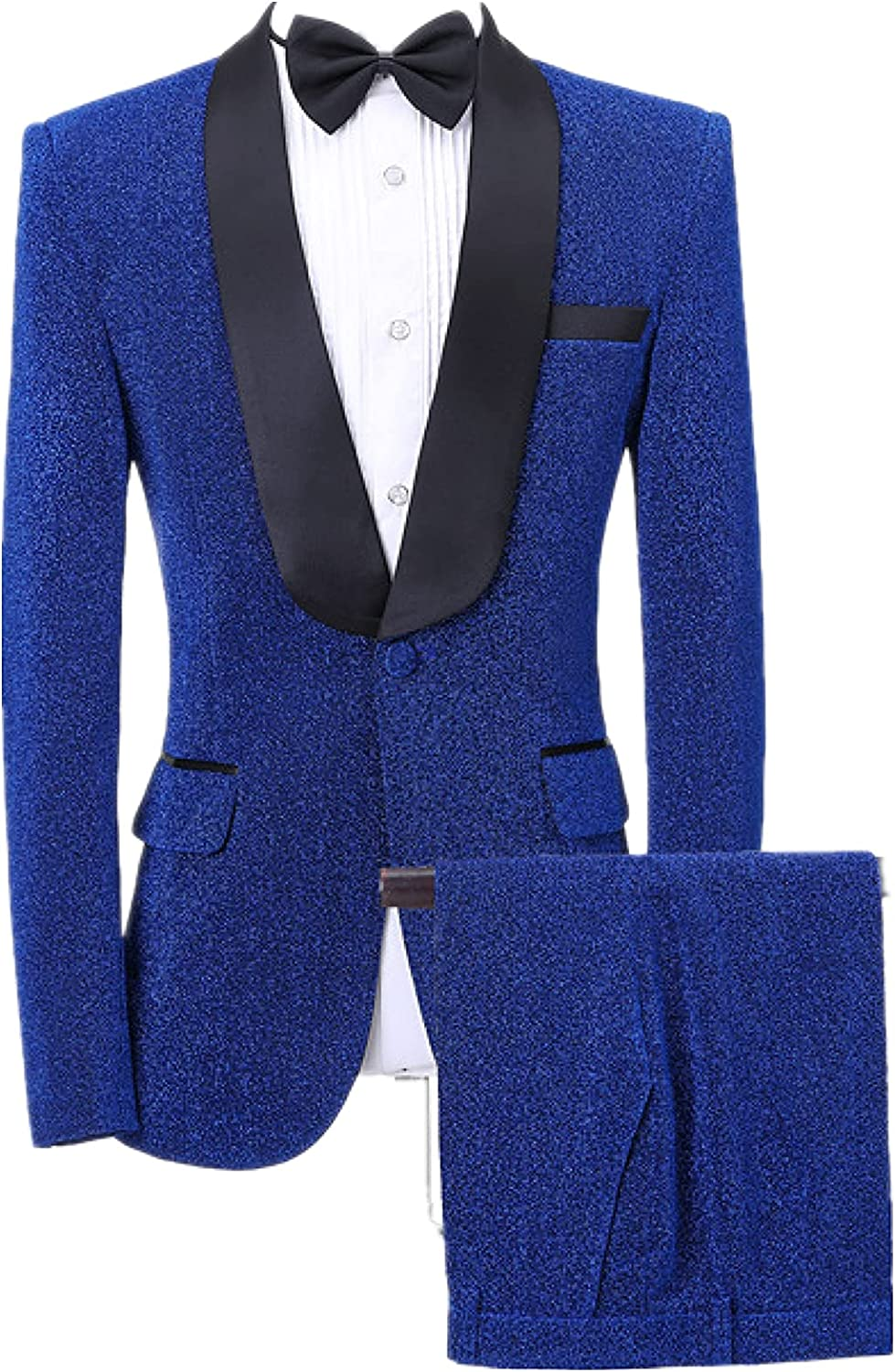 Men's Casual Blazer Jacket Lapel Business Jacket Single Row one Button for Dinners Dance Parties