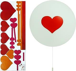 Opus Kids Heart Sticker LED Wall Light - Battery Operated