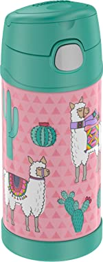 THERMOS FUNTAINER 12 Ounce Stainless Steel Kids Bottle, Desert Llamas