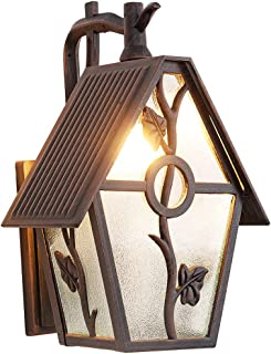 Outdoor Wall Lantern Exterior Wall Mounted Sconce Lighting Designer Style Outdoor Wall Light Fixtures with Water Glass for Home,Porch,Patio,Garage,Outdoor Halloween Decorations