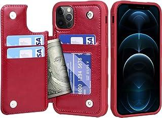 Migeec Funda para iPhone 12 Pro MAX - Funda Tipo Cartera con Bolsillos para Tarjetero [a Prueba de Golpes] Funda con Tapa ...