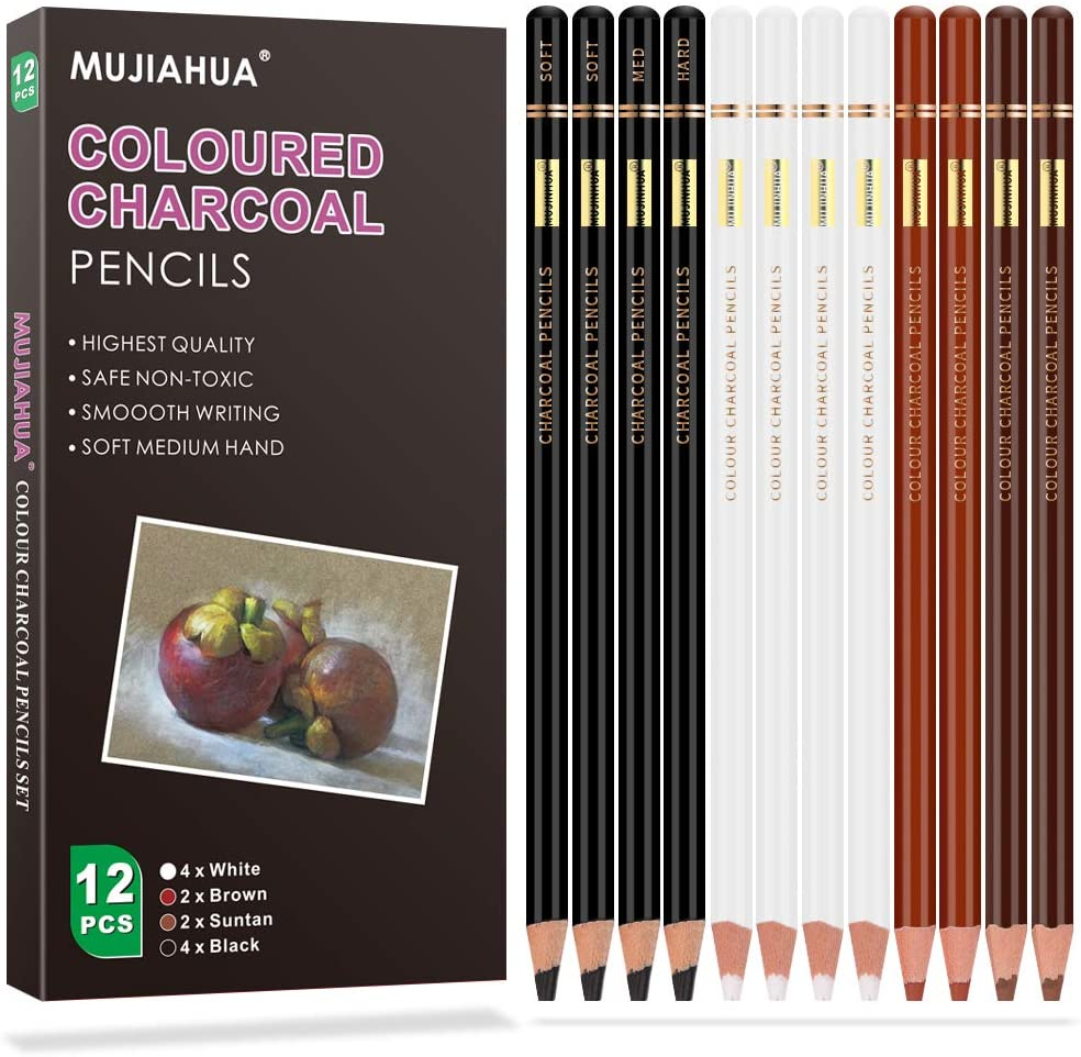MUJINHUA Professional Charcoal Pencils Penci Colour At Ranking TOP15 the price of surprise Set Drawing