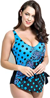 AOIF LLMY Floral Printing Dots One Piece Slimming Plus Size Swimming Sets Swimwear 20302