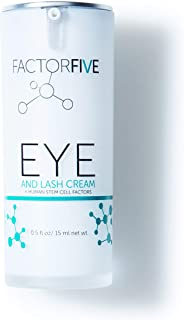 FACTORFIVE Eye & Lash Cream with Human Derived Apidose Stem Cell Growth Factors for Anti-Wrinkle, Collagen Boost, and Acne...