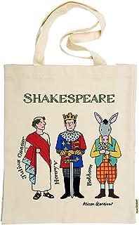Alison Gardiner Famous Illustrator - William Shakespeare Characters Commemorative 100% Cotton Tote Bag - Premium Quality a...