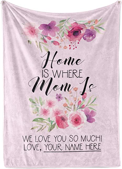 Mother/'s Day Gift Rose Throw Floral Blanket Personalized Blanket for Mom Mother/'s Day Gift Moms Gift Mother Blanket