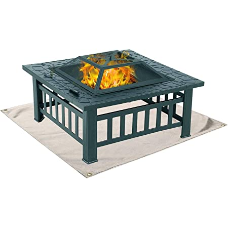 Ambienceoutdoors Round Patio Fire Pit Decking Firepit Garden Heater Table Brazier Amazon Co Uk Garden Outdoors
