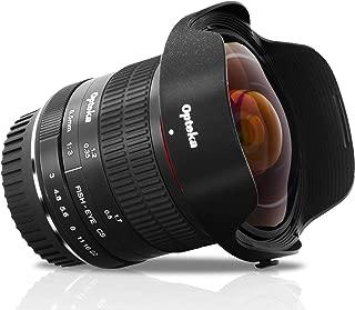 Opteka 6.5mm f/3.0 プロフェッショナル 超広角非球面魚眼レンズ Canon EOS 80D 77D 70D 60D 50D 7D Rebel T7i T7s T6s T6i T6 T5i T5 T4i T3i T3 T2i SL2 デジタル一眼レフカメラ用
