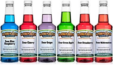 Hawaiian Shaved Ice Sour Syrup 6 Pack, Pints