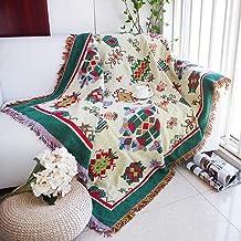 Throw Blanket Thickening Geometry Plaid Towel Blanket Sofa Bed Non Slip Stitching Thread Blanket Christmas Decorative