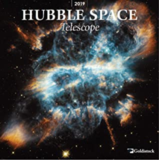 """2019 Large Wall Calendar -""""Hubble Space Telescope"""" by Goldistock - 12"""" x 24"""" (Open) - Thick & Sturdy Paper - Expand Your World & Your Mind"""