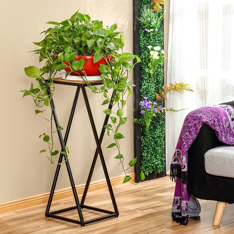 Retro Flower Stand Shelf Iron Terrace Living Room Flower Pot Rack Floor Shelf (Size   303080cm)