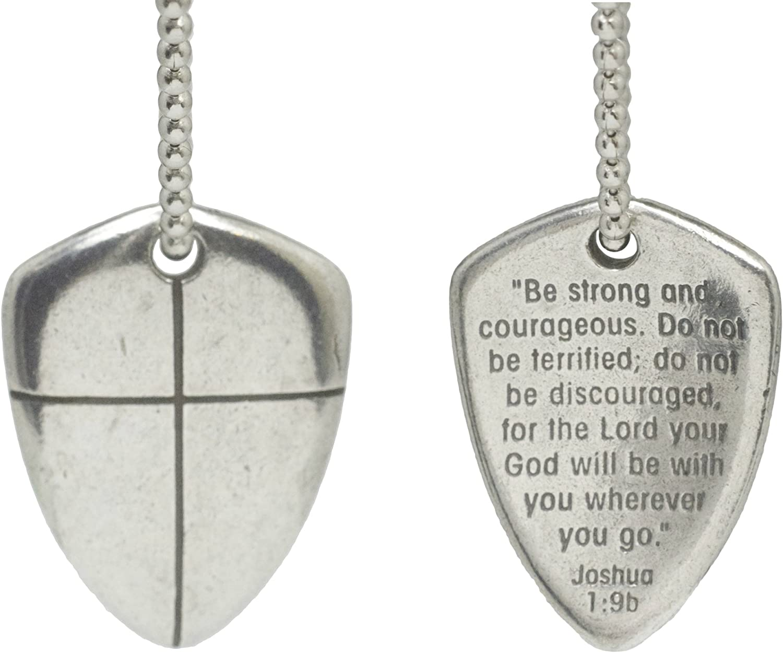 Necklace-Shield Of Faith (Cross) w/24
