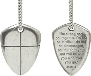 Necklace-Shield Of Faith (Cross) w/24