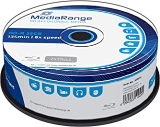MEDIARANGE BD-R 25GB 6X Writing Speed, 25 Cakebox