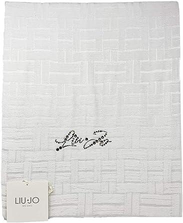 Liu Jo Home Mattone Bedspread With Swarovski Logo It Measures 270x270 Cm Composition 100 Cotton 2p Bianco Amazon Co Uk Home Kitchen
