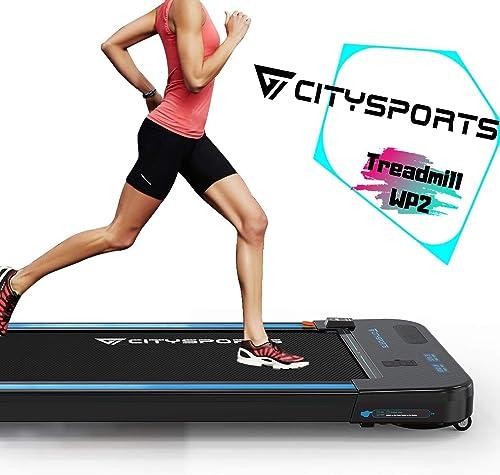 CITYSPORTS Cinta de Correr Caminar Eléctrica Motor 440W, Altavoces Bluetooth, Velocidad Ajustable, Pantalla LCD y Con...