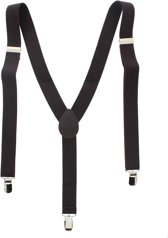 Zac's Alter Ego Men/Ladies Adjustable 25mm Width Plain Braces/Suspenders Fancy Dress Accessories