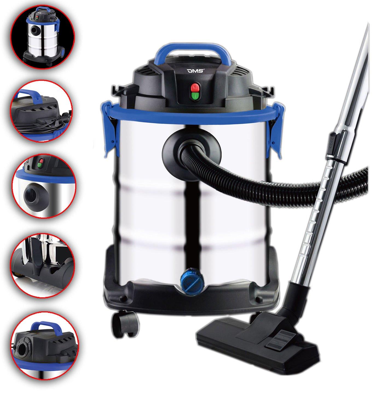 DMS® NTS de 25 Aspiradora Aspiradora en seco húmedo aspirador industrial multiusos 25 litros Max. 1800 W con 3 M manguera: Amazon.es: Hogar
