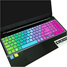 15 15.6 Inch Silicone Waterproof Laptop Keyboard Cover Protector Film for Acer Aspire V15 Nitro Black Be Vn7 571g 572g 573g,Rainbow