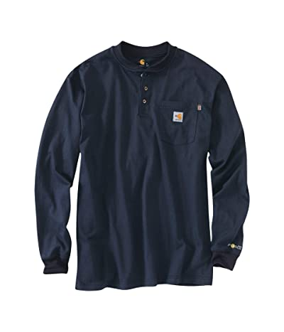 Carhartt Flame-Resistant Force Cotton Long Sleeve Henley (Dark Navy) Men